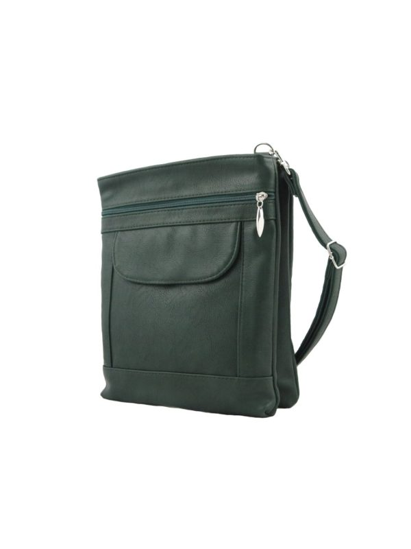Темно-зеленая сумка-планшет.