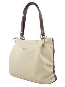Бежевая сумка-мешок.