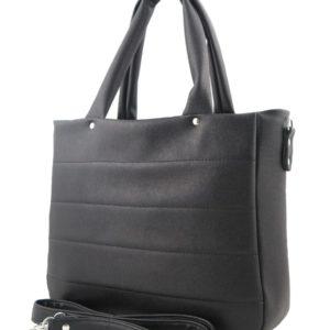 Черная стеганная сумка.