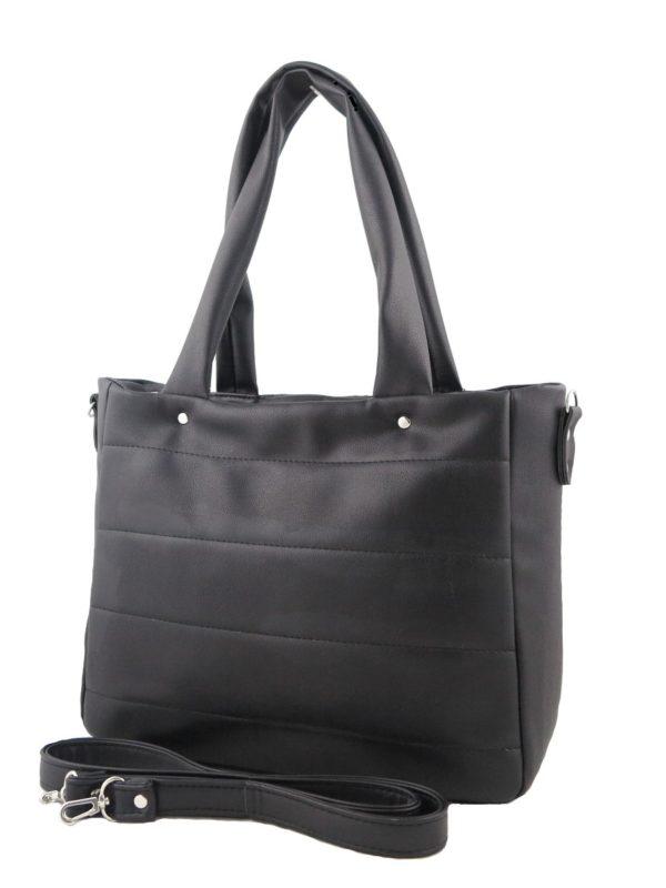 Стеганная черная сумка.