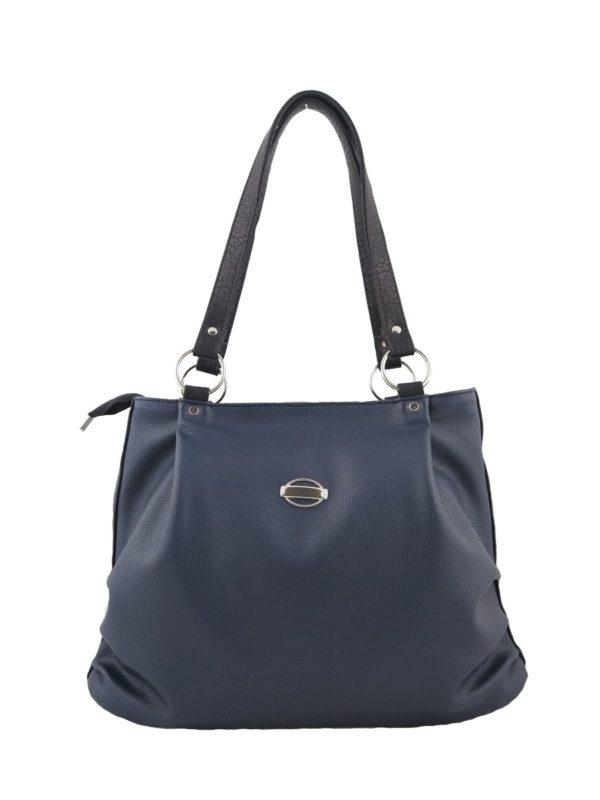 Темно-синяя сумка-мешок.