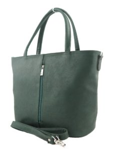 Темно-зеленая сумка.