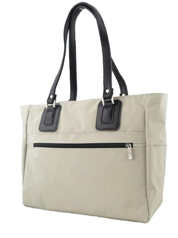 Светло-бежевая текстильная сумка.