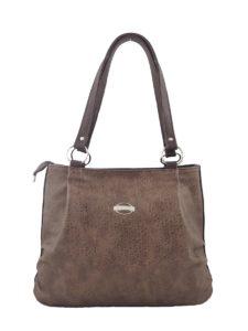 Коричневая сумка-мешок.