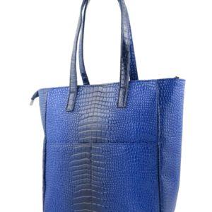 Синяя сумка шоппер.