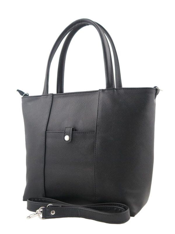 Черная сумка с ручками.